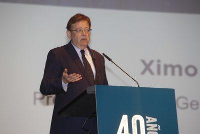 El presidente de la Generalitat, Ximo Puig, durante su intervención.