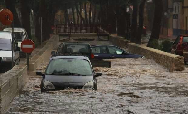 Inundación del Badén de Rio Lucas en septiembre de 2017